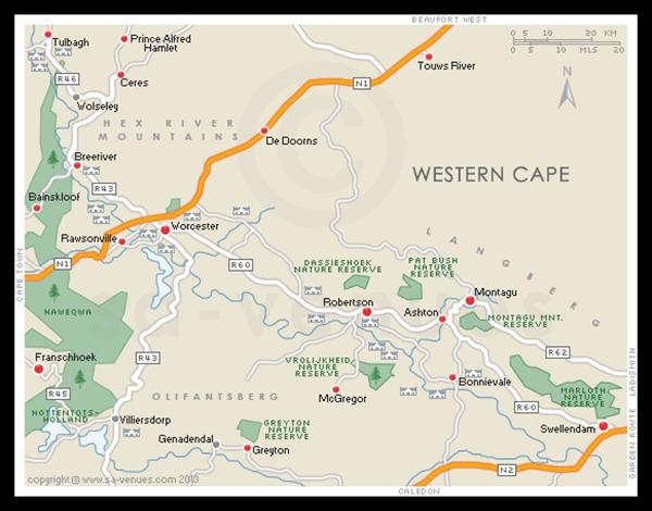 map western cape