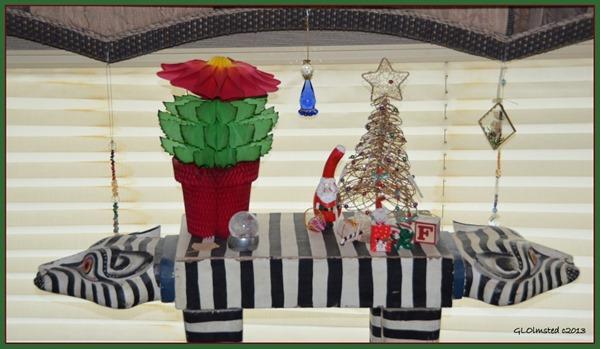 Christmas display in RV Yarnell Arizona
