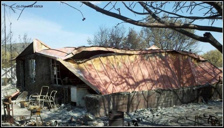 Berta's house after fire Yarnell Arizona