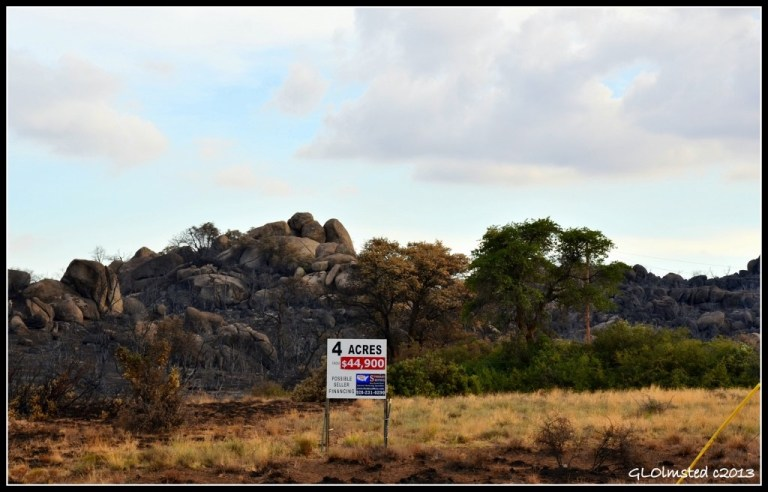 Burnt land for sale Yarnell Arizona