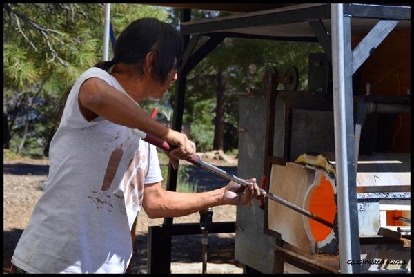 Hopi glass blower Ramson Lomatewama Native American Heritage Days North Rim Grand Canyon National Park Arizona