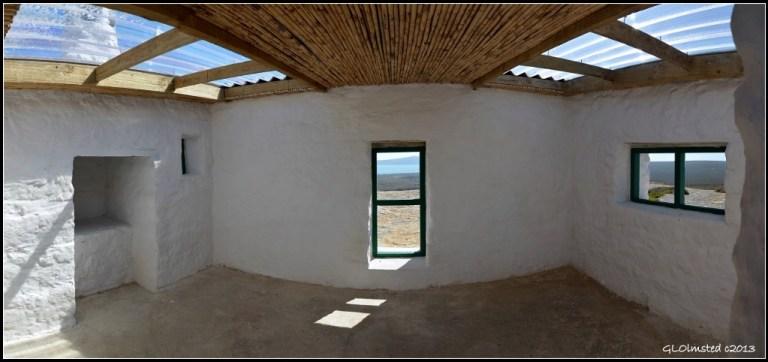 Inside building at Seeberg view point West Coast National Park Langebaan South Africa