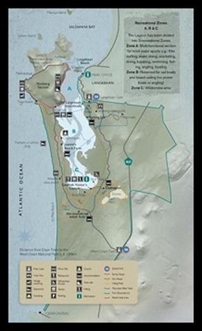 West Coast National Park map