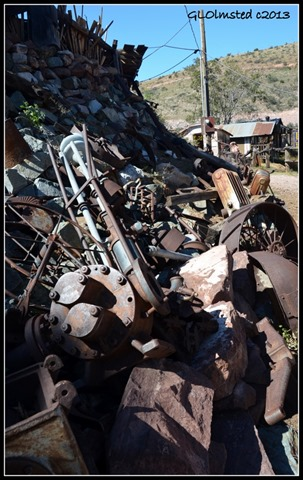 Rusty stuff Gold King Mine Ghost town Jerome Arizona