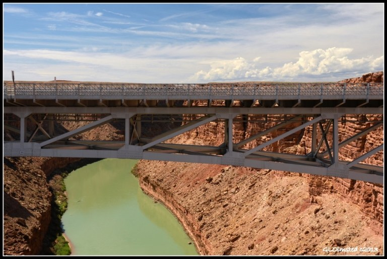 Navajo Bridge, Marble Canyon & Colorado River from Navajo Bridge Glen Canyon Recreation Area Marble Canyon Arizona