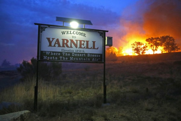 Welcome to Yarnell sign Yarnell Hill Fire 51d112de20c2f.preview-620