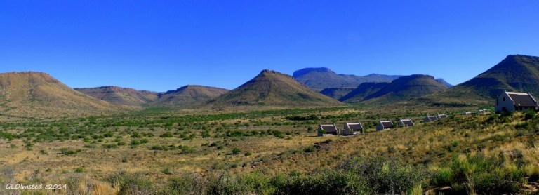 Escarpment valley view Karoo National Park South Africa
