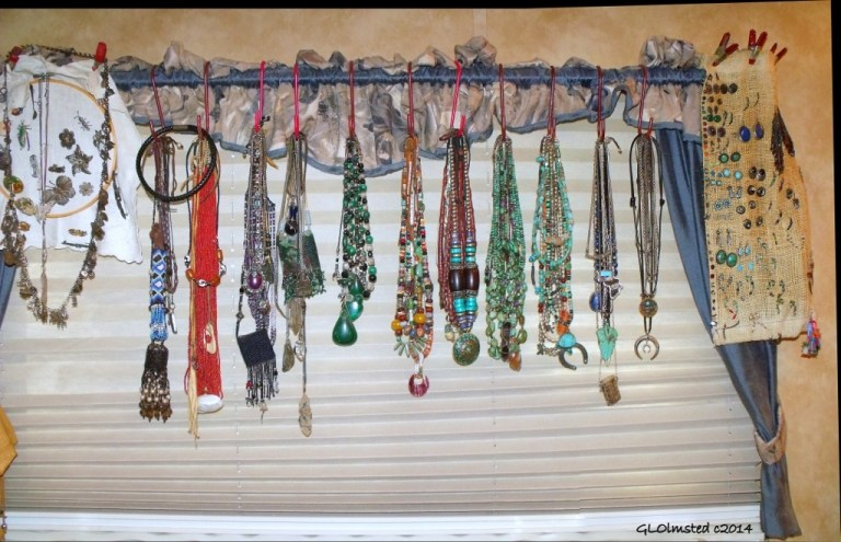 Hanging necklaces & earrings