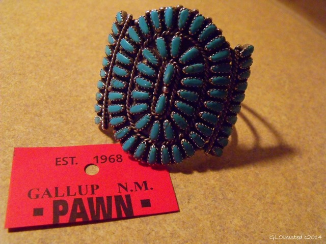 Zuni petit-point cuff sterling silver and turquoise
