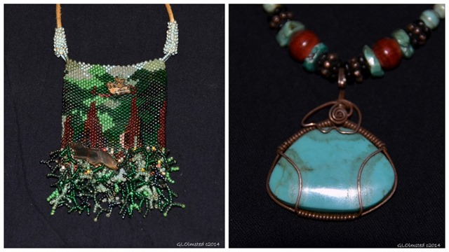 Beaded forest bag & wire wrap