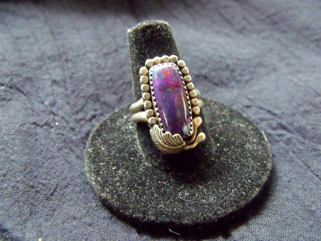 Dyed Kingman turquoise ring by Dan Burns