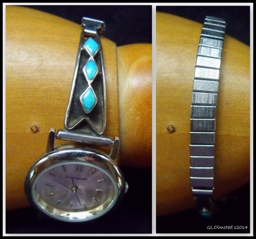 Sterling silver & turquoise watch band