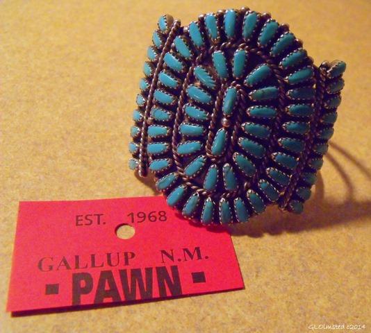 Pawn Zuni peti-point cuff from Cameron Trading Post Arizona