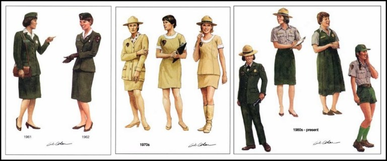 Women's National Park Service uniforms 1960s - present