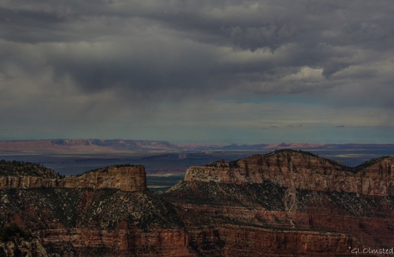 Stormy sky over Marble Plateau from Point Imperial North Rim Grand Canyon National Park Arizona