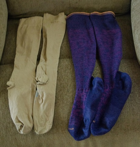 Standard and colorful compression stockings