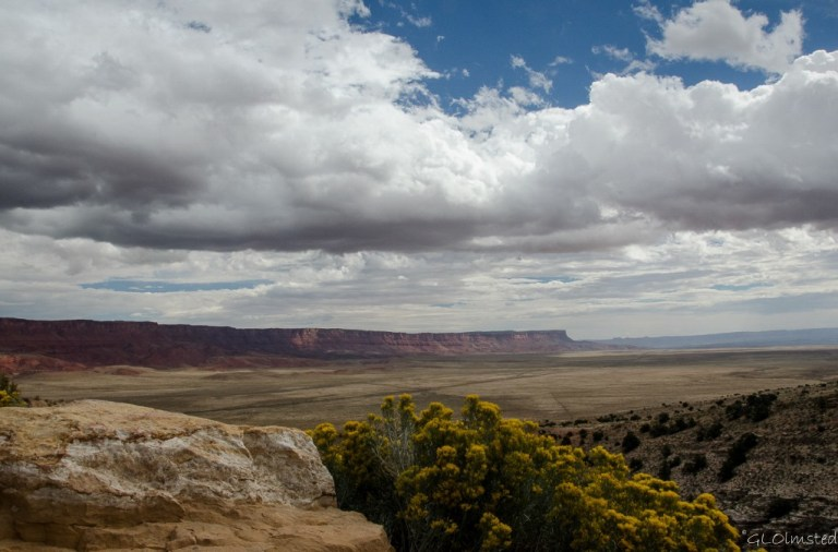 Clouds over Vermilion Cliffs from overlook SR89A Kaibab National Forest Arizona