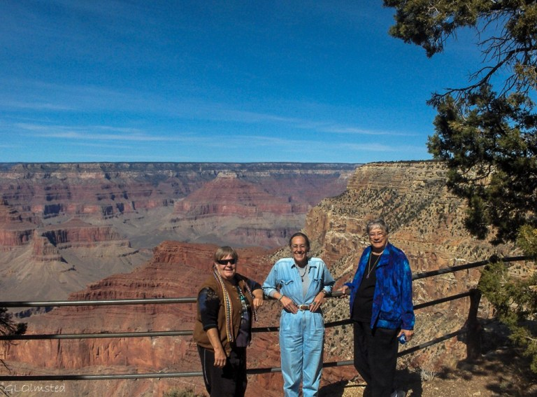 Berta, Gaelyn & Darlene Grand Canyon National Park South Rim Arizona