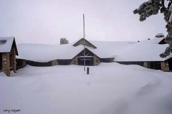 Snow buried Grand Lodge by Gary Keysar North Rim Grand Canyon National Park Arizona