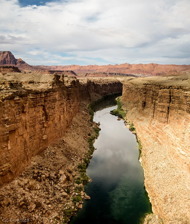 Up stream from Navajo Bridge Echo Cliffs & Colorado River Marble Canyon Arizona