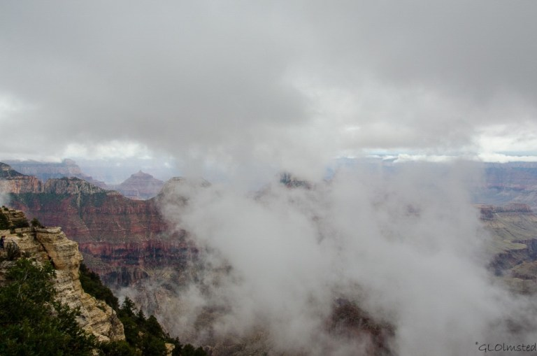 Clouds in canyon from Lodge North Rim Grand Canyon National Park Arizona
