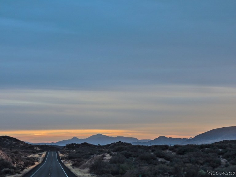 Sunset over Weaver Mountains Iron Springs Road Arizona