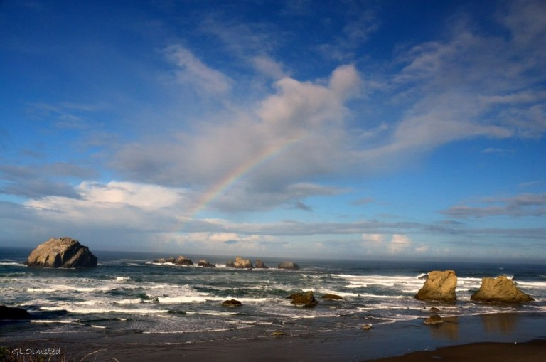 Rainbow at Facerock Bandon Oregon