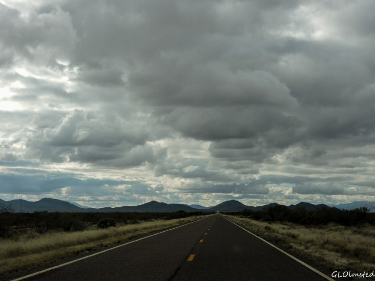 Clouds over mountains SR71 SW Arizona