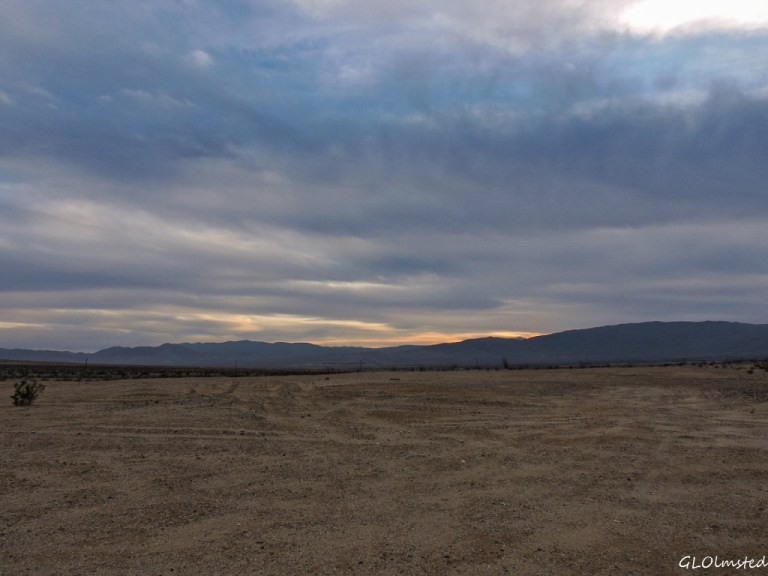 Sunset view from camper Anza-Borrego Desert State Park California
