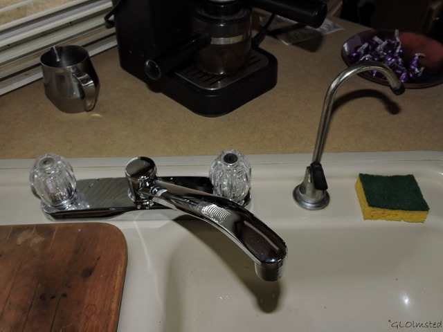 New kitchen faucet in 5th-wheel