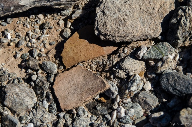 Pottery sherds Ogilby Road BLM California