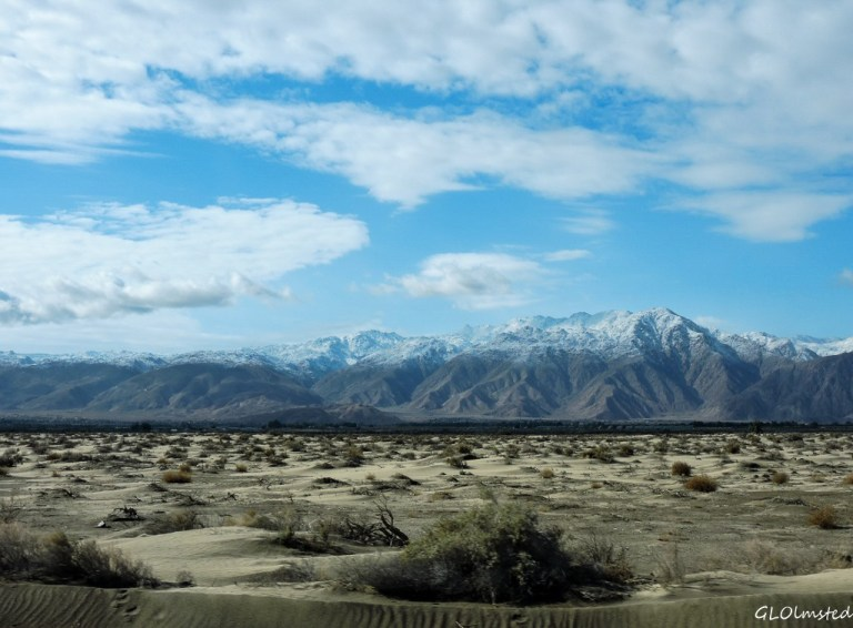 Snow on Vallecito Mts Anza-Borrego Desert State Park California
