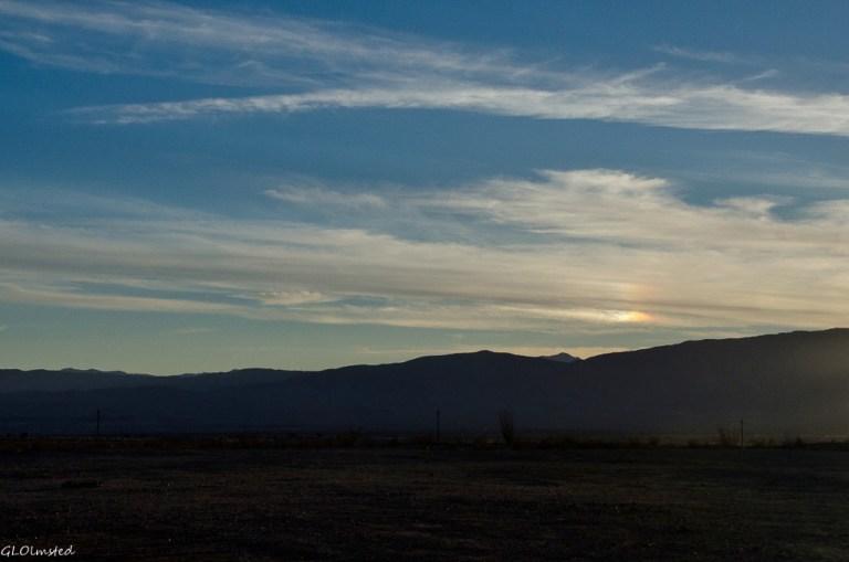 Sundog over Vallecito Mts Anza-Borrego Desert State Park California