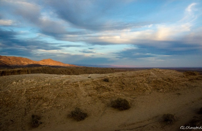 Last light beyond the Badlands from Fonts Pt Anza-Borrego Desert State Park California