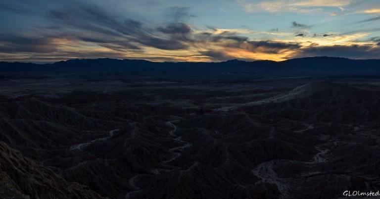 Sunset Badlands from Fonts Pt Anza-Borrego Desert State Park California