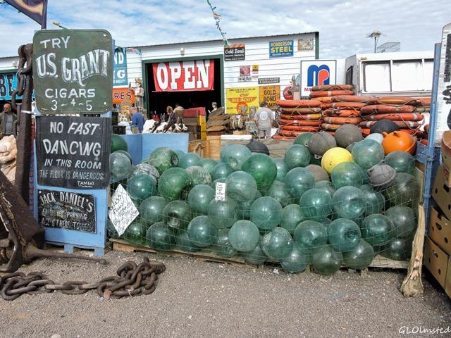 Glass float balls Main Event vendor Quartzsite Arizona