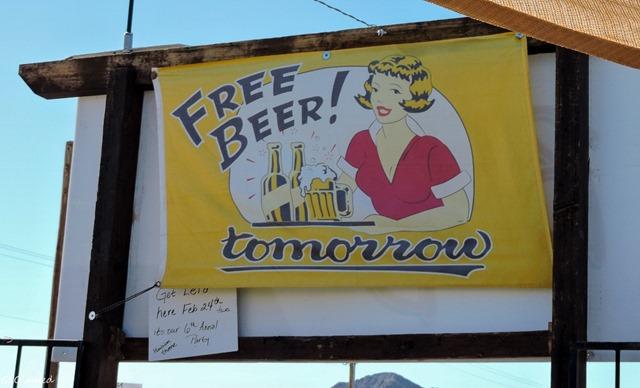 Beer Bellys sign Quartzsite Arizona