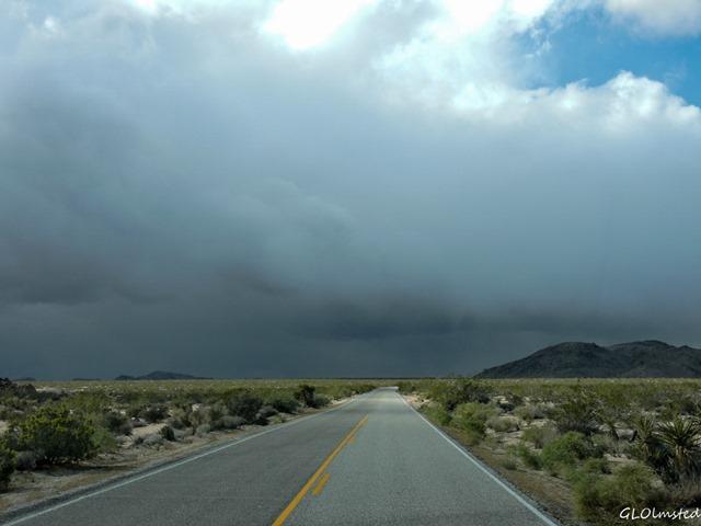 Storm clouds Pinto Basin Road Joshua Tree National Park California