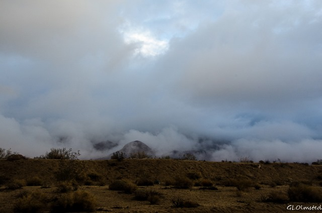 Clouds drifting over Cottonwood Mountains Cottonwood Springs Road BLM California