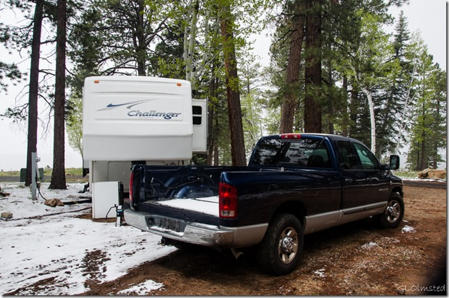 Snow RV & truck North Rim Grand Canyon National Park Arizona