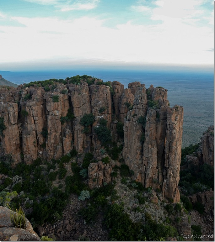 Dolomite cliffs above Valley of Desolation Camdeboo National Park Graaff-Reinet South Africa