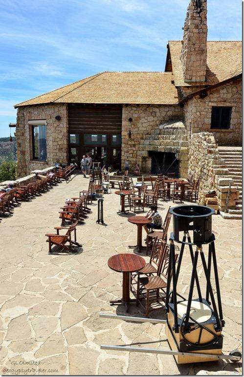 Telescope on Lodge veranda Star Party North Rim Grand Canyon National Park Arizona