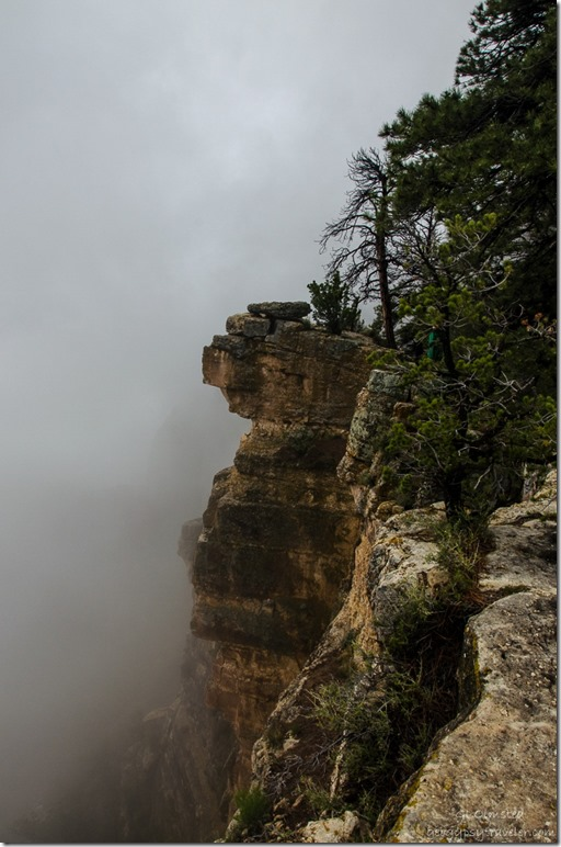 Inversion & cliff face North Rim Grand Canyon National Park Arizona