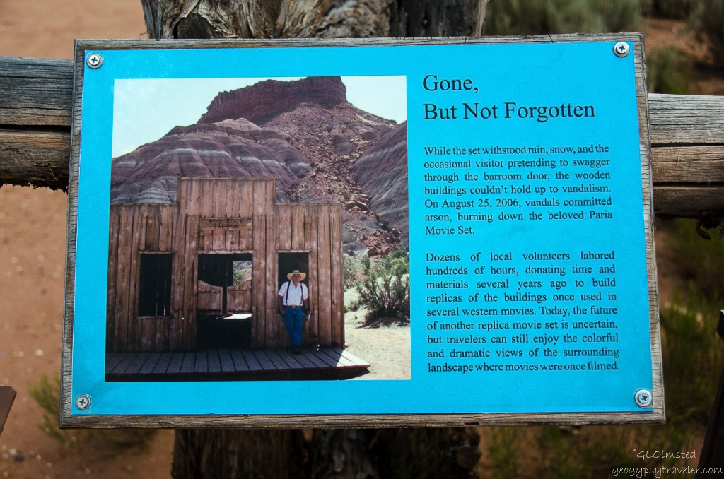 used monument sign grand staircase escalante national monument utah