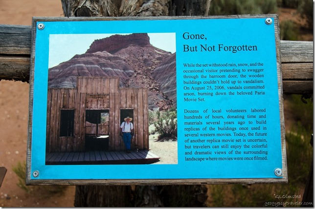 Interpretive sign movie set Paria River Road Grand Staircase-Escalante National Monument Utah