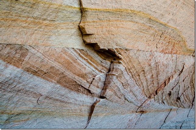 Iron staining on Navajo sandstone Kanab Utah