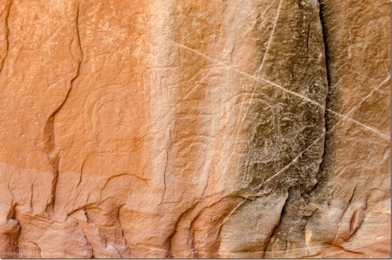 Petroglyphs Catstair Canyon Grand Staircase-Escalante National Monument Utah