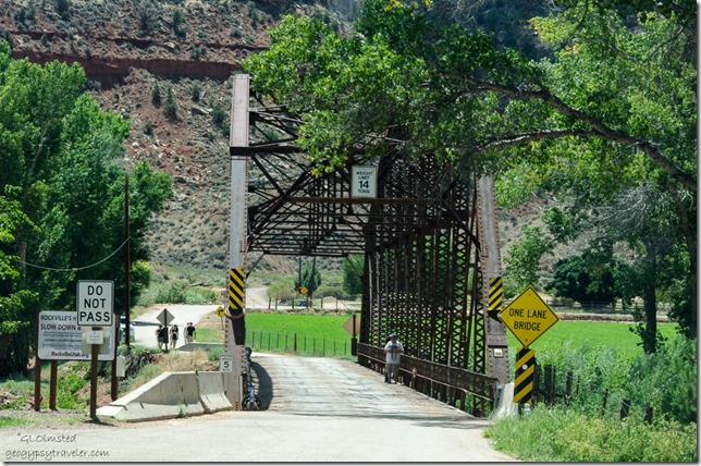 Historic Rockville Bridge Rockville Utah