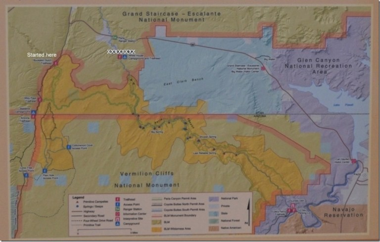 BLM map Buckskin Canyon, Paria Canyon to Lees Ferry Utah and Arizona