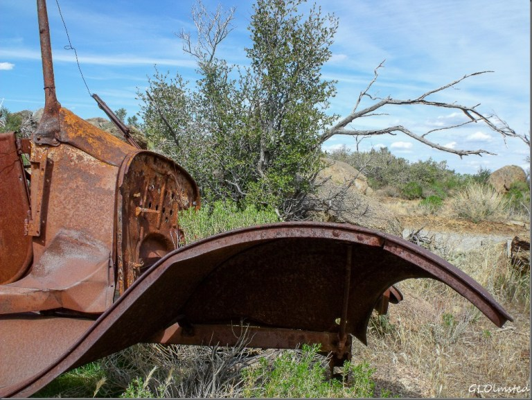 Old rusty car Weaver Mountains Yarnell Arizona
